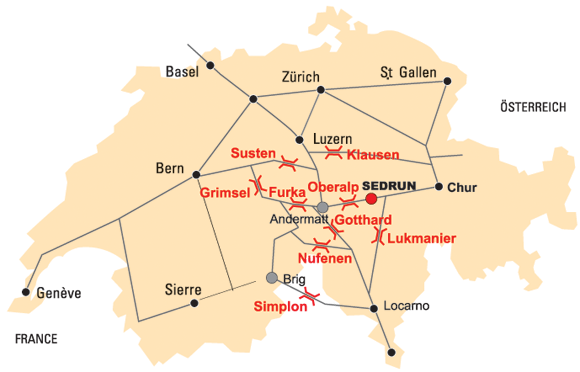 Strassenkarte-Anreise-Cruna-Sedrun